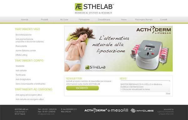siti web estetica aesthelab