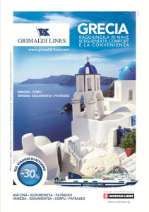 Affissione Grimaldi 2012 soggetto Grecia