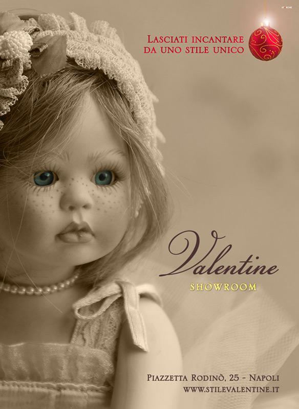 stile valentine annuncio stampa