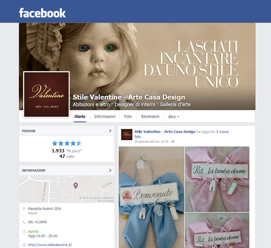 pagina fb valentine