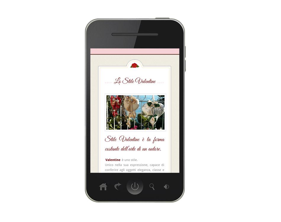 siti responsive cellulari - valentine