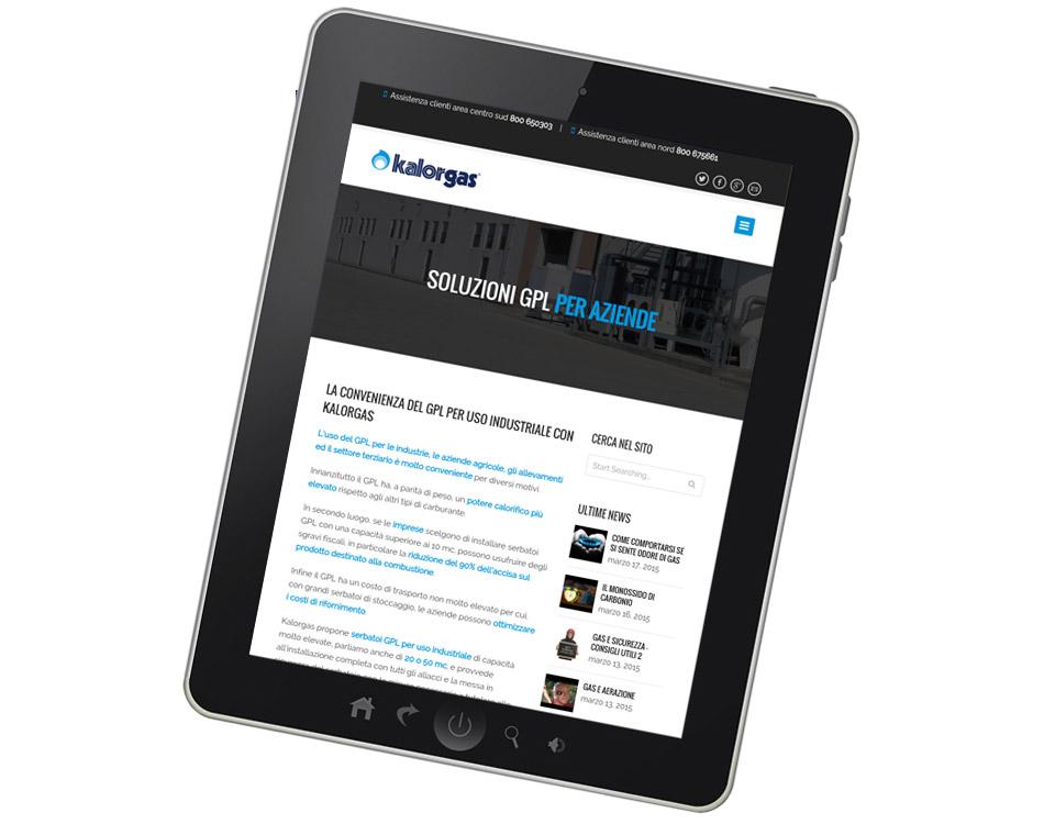 realizzazione siti per tablet - kalorgas