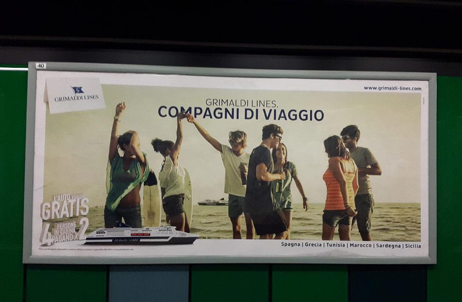 campagna affissione metropolitana grimaldi