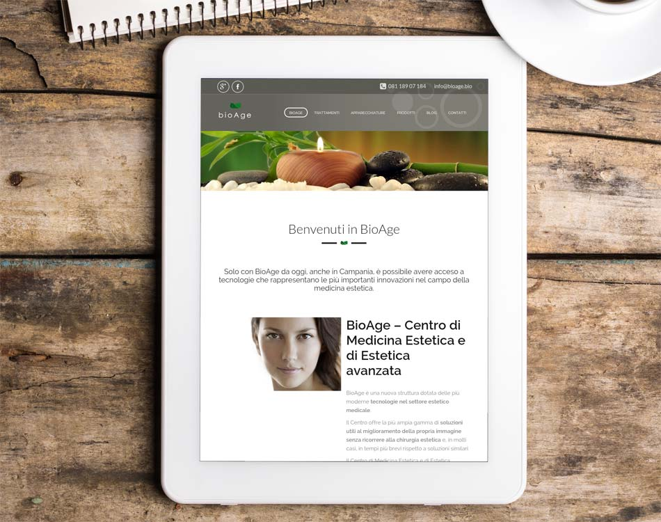 creazione siti responsivi tablet centri estetici