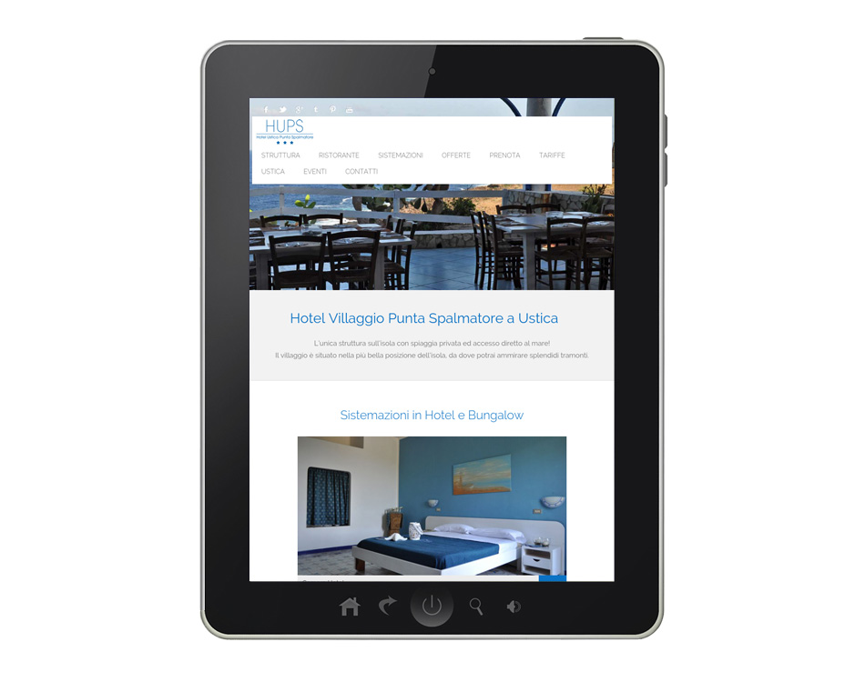 siti hotel villaggi per tablet web agency ateacme