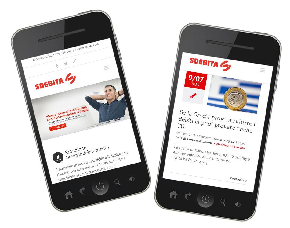 creazione siti mobile sdebita
