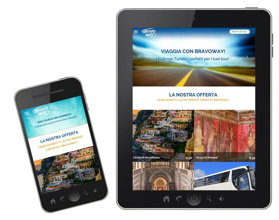 realizzazione siti web turistici - bravoway