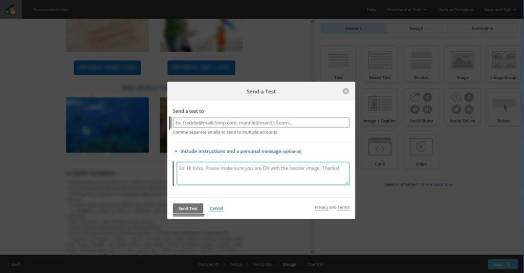 tutorial-mailchimp-invio-test